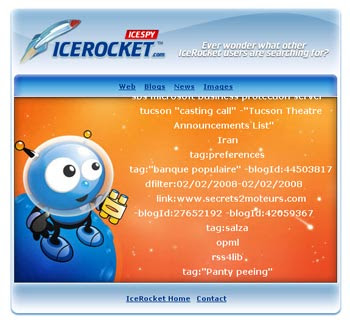 spy blog search engine icerocket