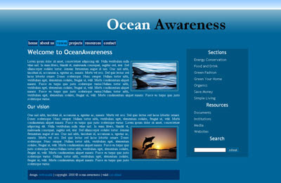 free website template ocean awareness