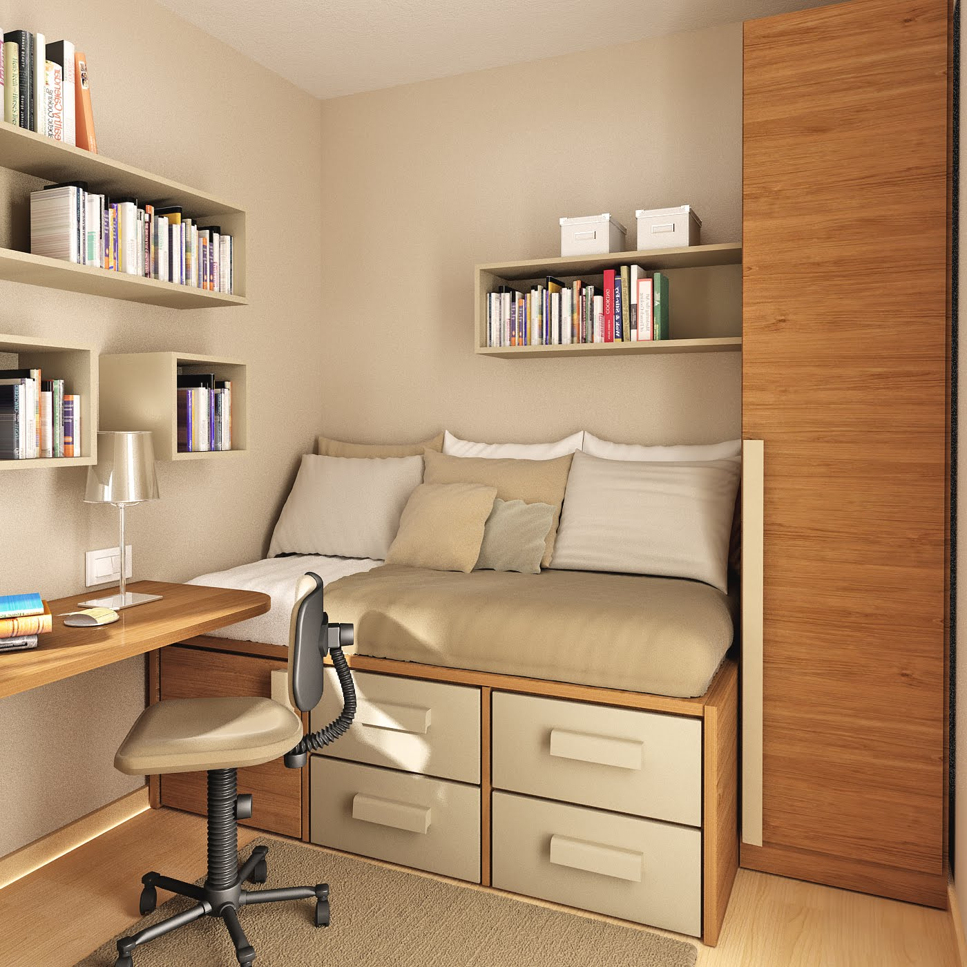 Study Room Interior Design 1400 x 1400