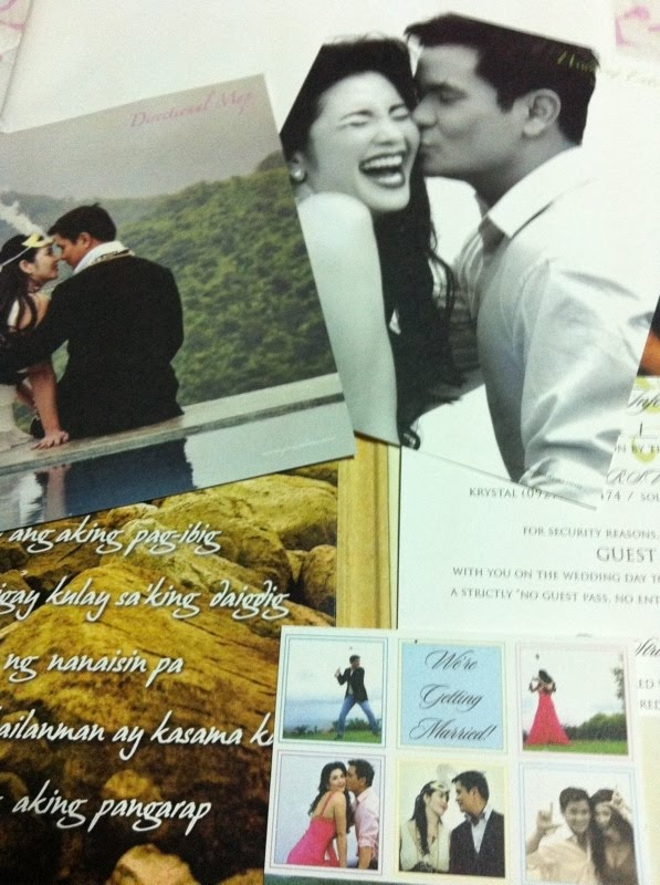 Ogie Alcasid Regine Velasquez Wedding Invitation