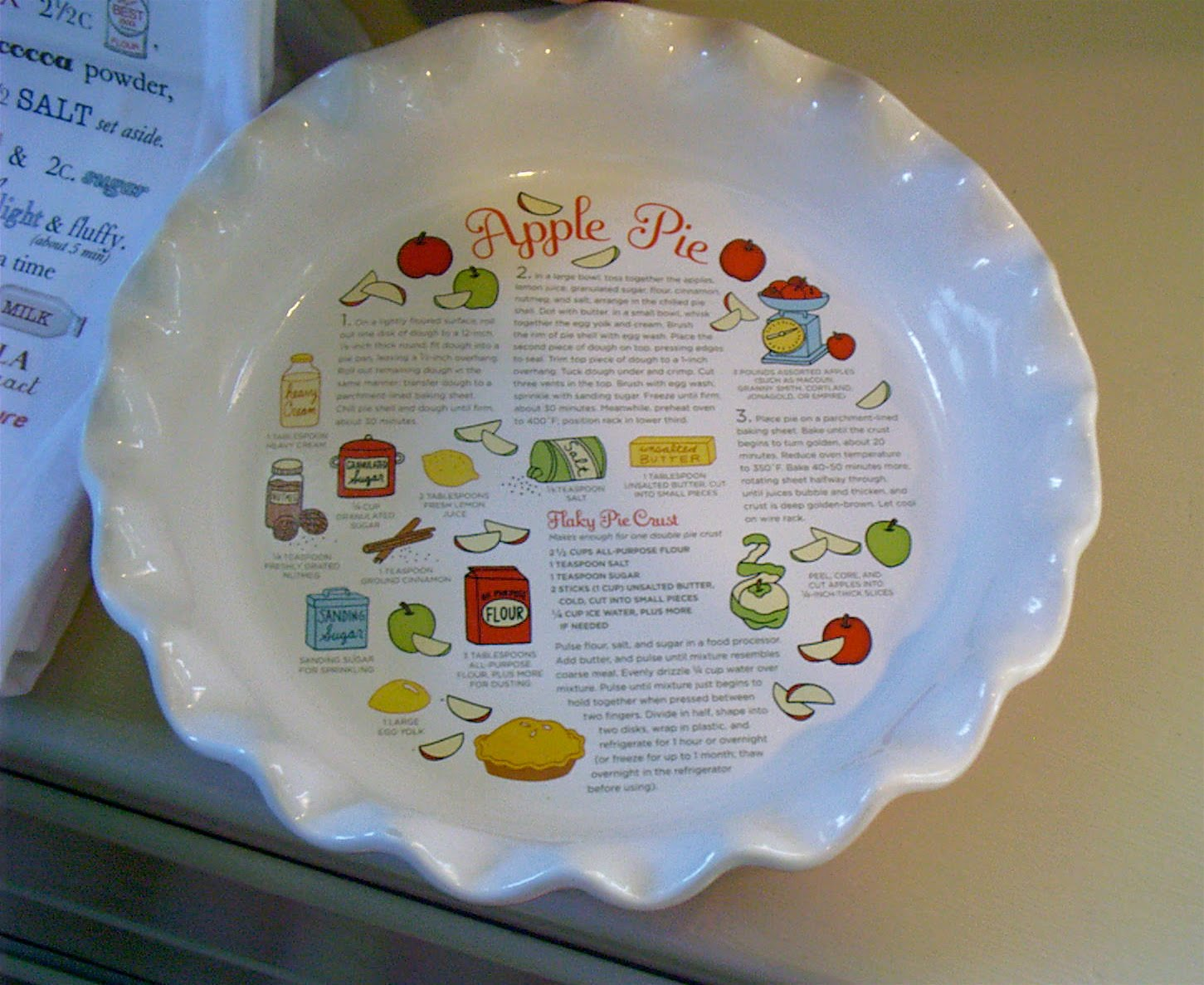 See here is the recipe. Since the recipes are so handy I suppose I will have to bake some red velvet cupcakes and an apple pie very soon!!! & Ash Tree Cottage: Red Velvet Cupcakes and a Red Pie Plate