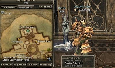 Quest de Baium 9+dark+elf