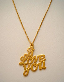 I love you necklace - Valentine's Day gift idea