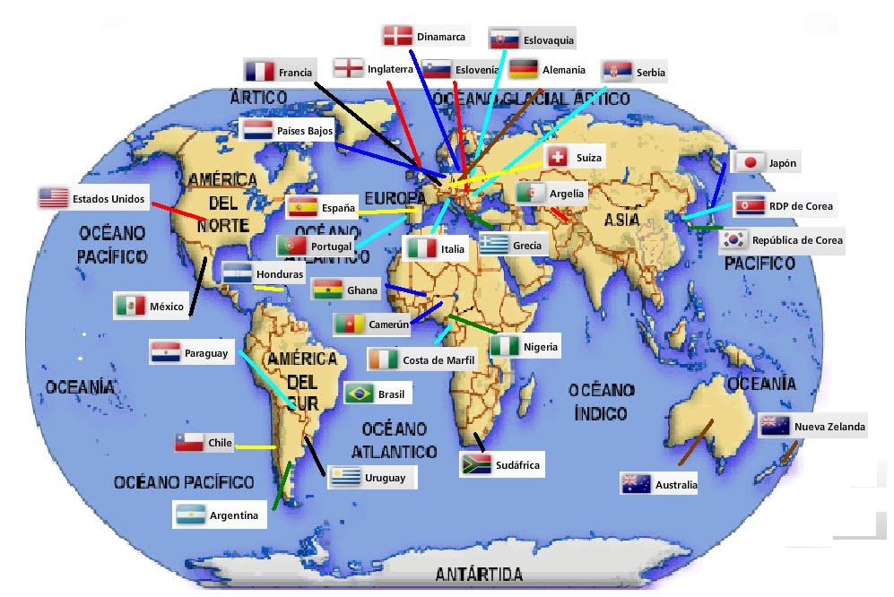 El Mapa Mundi Con Sus Paises