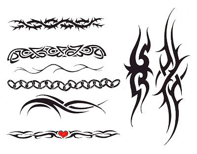 Bicep Tribal Armband Tattoo Design for Men. Cross Tattoo Design on Male Arm