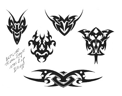 Free Tribal Cross Tattoos Designs