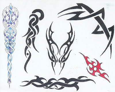 new school style tattoos tribal fire tattoo designs