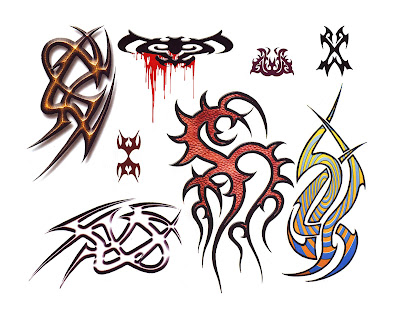 he heart tattoo designs in the picture are representative of a few of the
