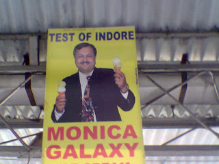 An actual hoarding at Indore railway station-and yes, this is how they spell Taste. :)