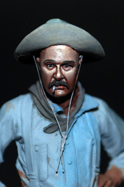 The bench by anders heintz 54mm cowboy painting wip for Andreas heintz