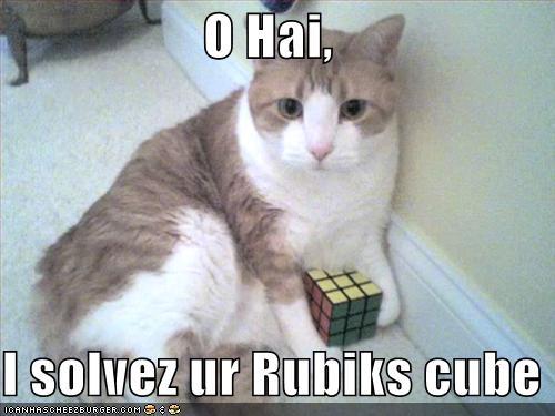 O Hai I solvez ur Rubiks cube