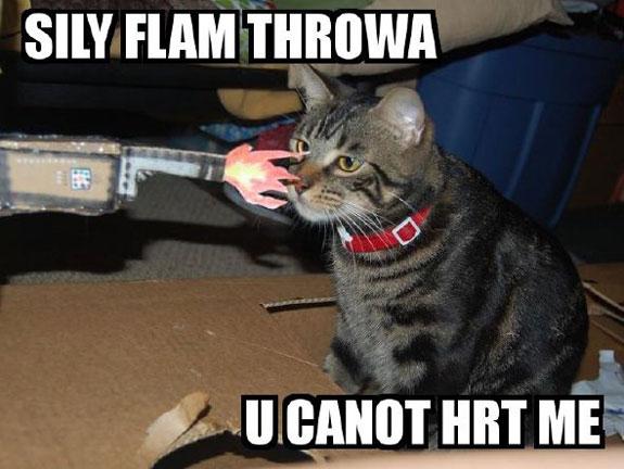 SILY FLAM THROWA U CANOT HRT ME