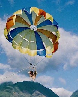 Learn to parasail with Aloha Beach Camp Summer Camp in 2010