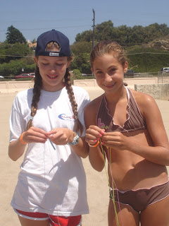 Arts and crafts -- and lanyards especially -- is a popular activity among kids at Aloha Beach Camp Summer Camp in Los Angeles