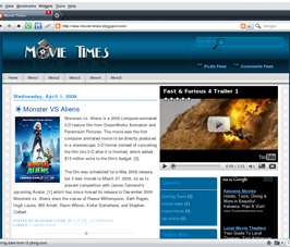 Movie Times, Free blogger templates