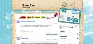Blue Sky Blogger Template