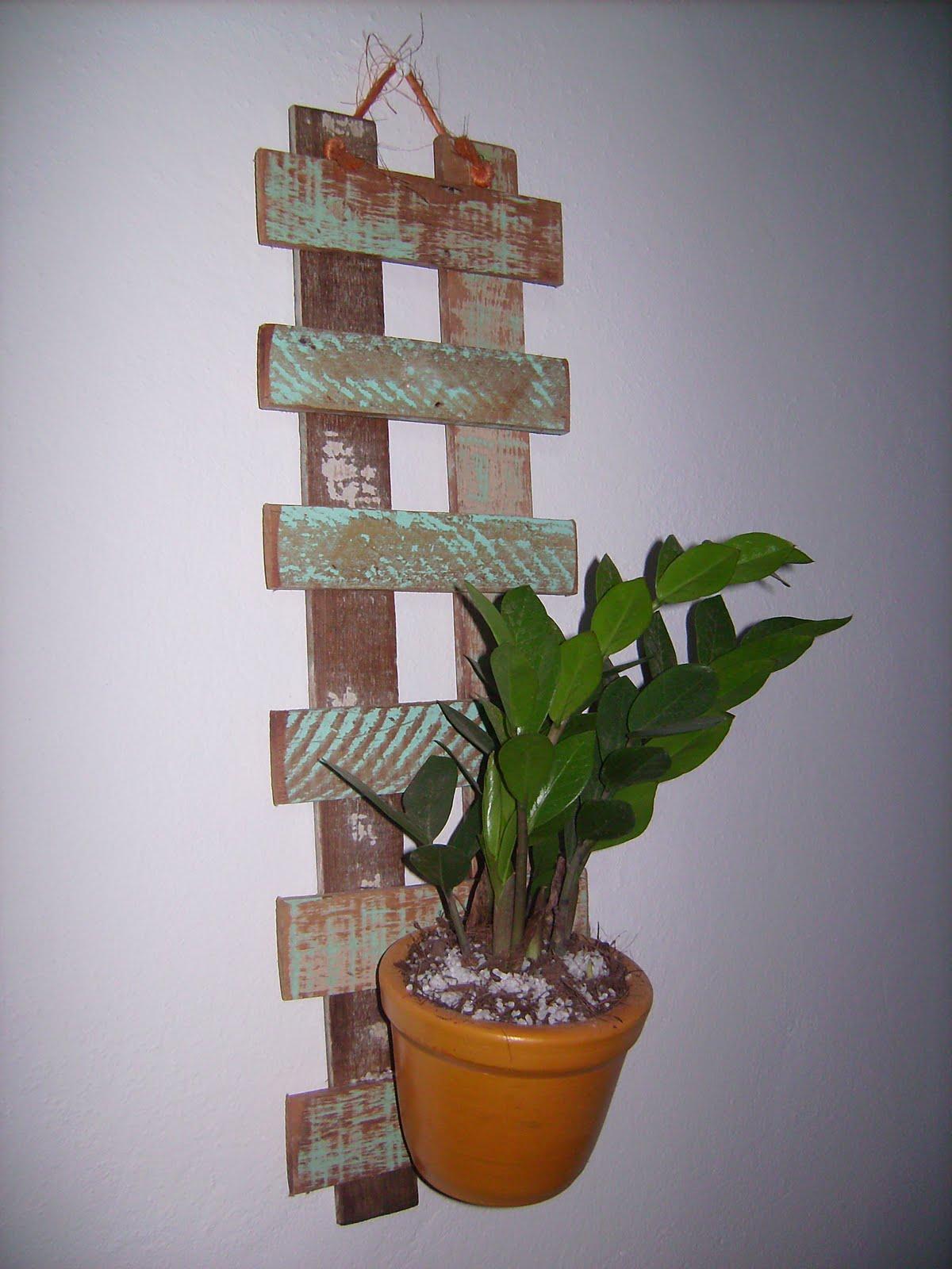 Treliça de parede de madeira demolição com suporte para uma planta  #425C14 1200x1600