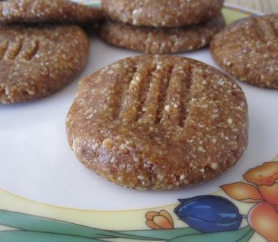 dvfblog  raw peanut butter cookies  2 ingredients  2 steps  too good