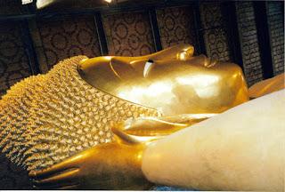 Rostro del Buda echado, Wat Po, Bangkok