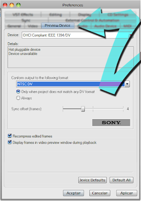 Sony Vegas preferences