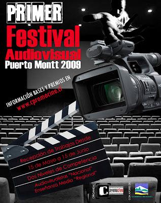 Afiche Primer Festival Audiovisual Puerto Montt
