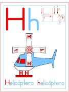 Imprime gratis fichas de caligrafia para niños para colorear. helicoptero