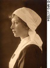 As a nurse, circa 1920