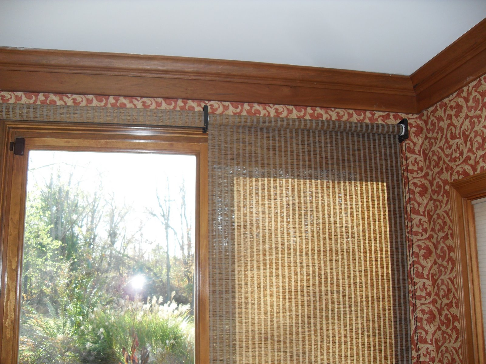 Louisville blinds and drapery patio doors with roller shades for Door roller blinds