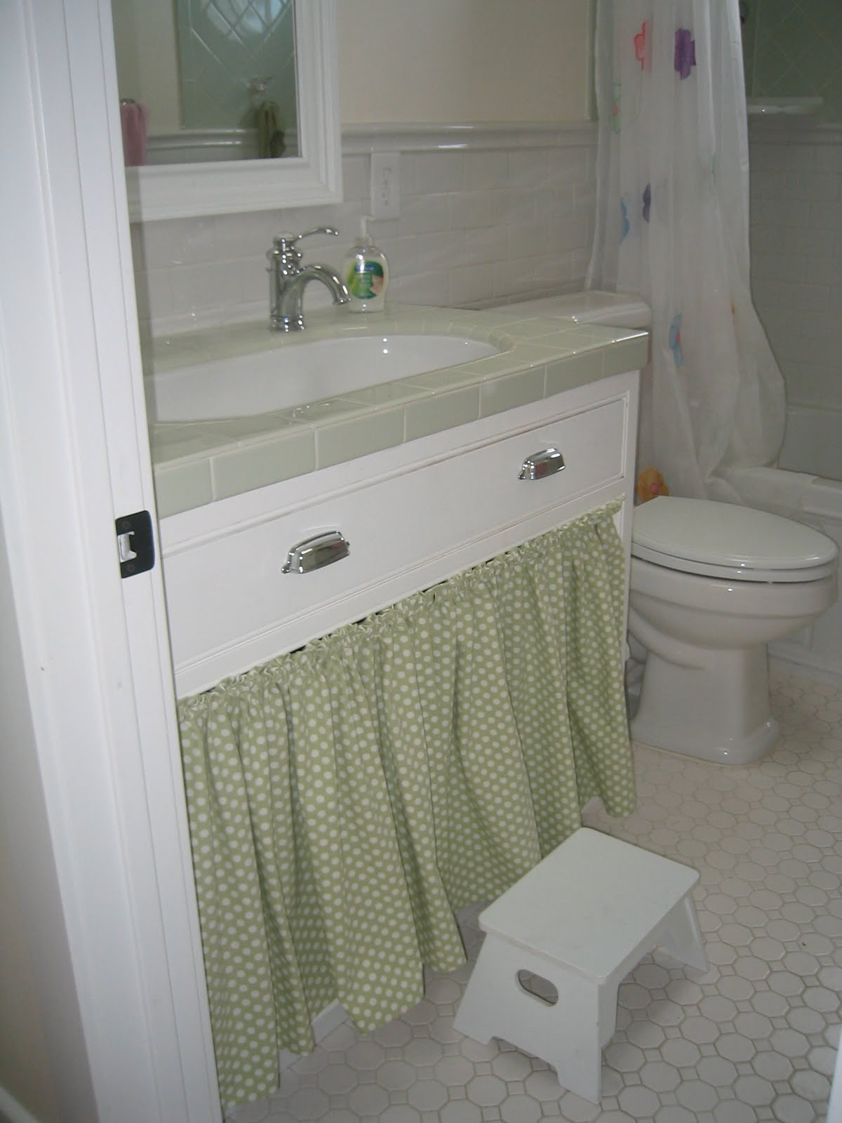 A little of this that and the other bathroom sink skirts