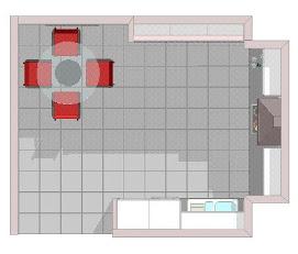 Sencilla distribución para 16 m2
