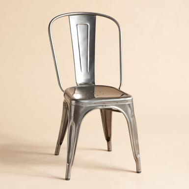 Perfect imperfection aluminum dining chairs deal for Metal dining room chairs