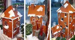 julskyltning  pepparkakshus Holmsunds blommor