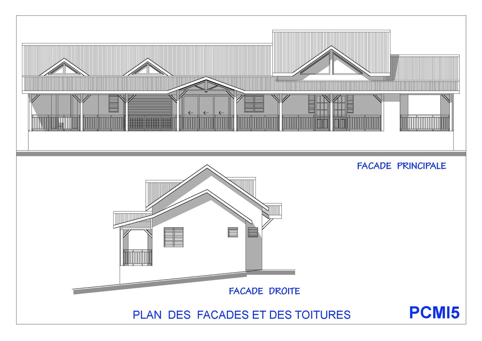 Plan maison en v plain pied for Plan de maison en v plain pied