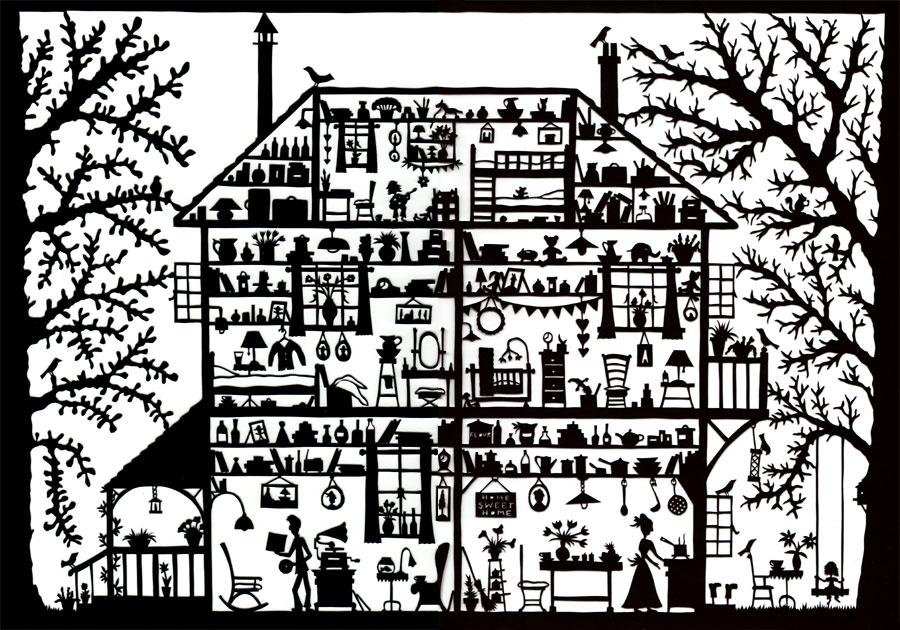 Line Art House : Crooked house in sopot by mwolski on deviantart
