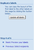 how to make name tags in word mail merge