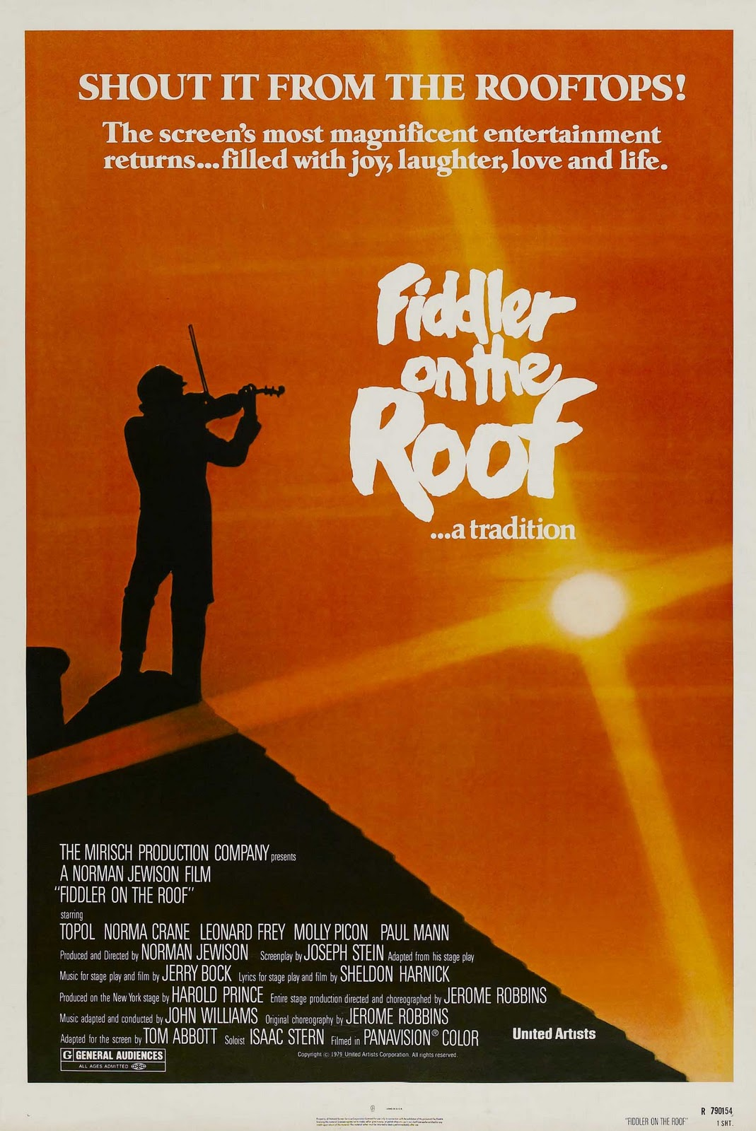 "the fiddler on the roof Audiences across north america are toasting a new production of fiddler on the roof rich with musical hits you know and love, including ""tradition,"" ""sunris."