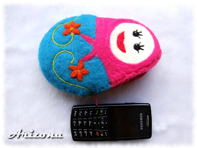 matrioszka z filcu wet and needle felted matrioshka coin purse
