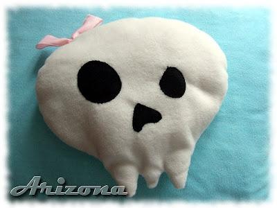 plushie skull emo goth pillow