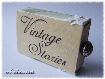 vintage stories matchbox handmade
