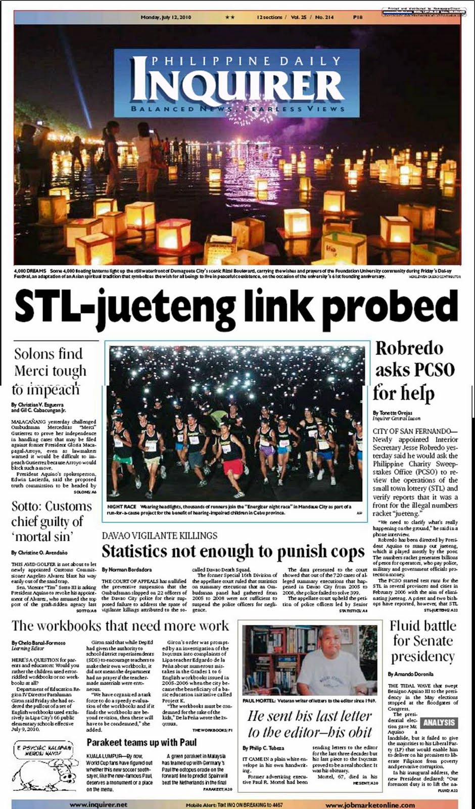 The Inquirer Front Page: July 2010