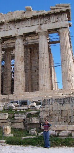 Algunas fotos de mis viajes: En Grecia,  Atenas, febrero 2010.