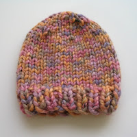 Bulky hat for 12-18 month girl.