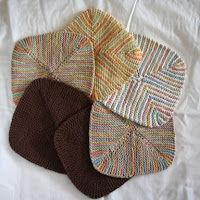 6 4-corners dishcloths