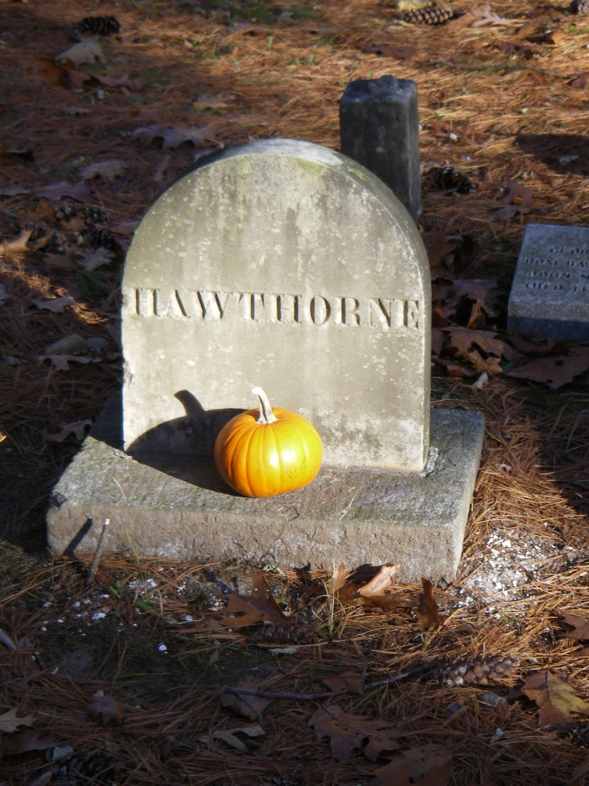 dipsy papa louisa alcott and nathaniel hawthorne are both buried in the concord cemetery
