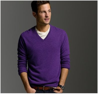 What kind of shirt do you wear with a purple v neck sweater? | IGN ...