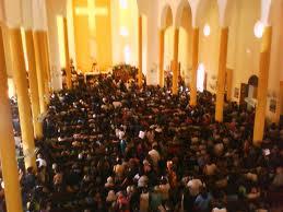 dia de missa da coroa de Santa Rita
