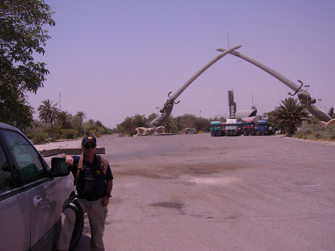 Author at the Crossed Swords, Baghdad, 2005