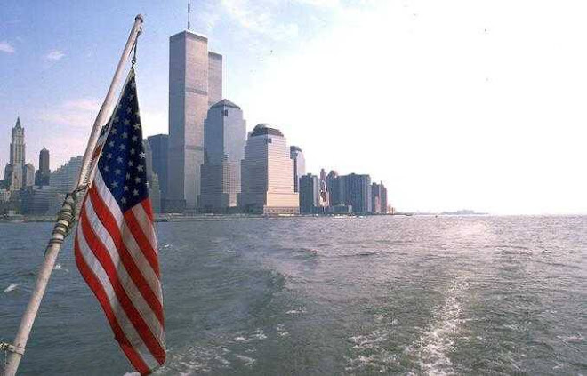American Flag and the WTC