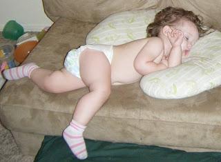 Toddler Sasha on Boppy Cushion