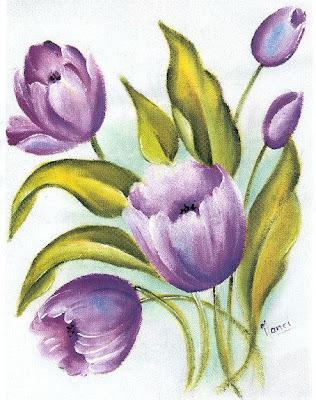 Lindas tulipas para colorir